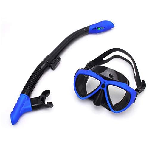 MYXMY Espejo de Buceo Maldivas Snorkel Profesional Three Treasures Myopia Anti-Fog Set Full Dry Diving Equipment