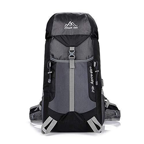 BAO-F Ultraleichter Outdoor-Sport Rucksack Wanderrucksack Trekkingrucksack für Camping, Klettern, Radfahren 45L Black
