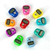 StapX Hand Finger Ring Counting Machine  Manual Digital Electronic Plastic Tally Counter 5-Digit for Japa, Cricket Umpire (3qty,Multicolour)