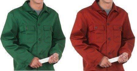 Arbeitsjacke grün oder rot Blaumann Jacke Berufskleidung Berufsjacke M L XL XXL, Größe:L;Farbe:Rot