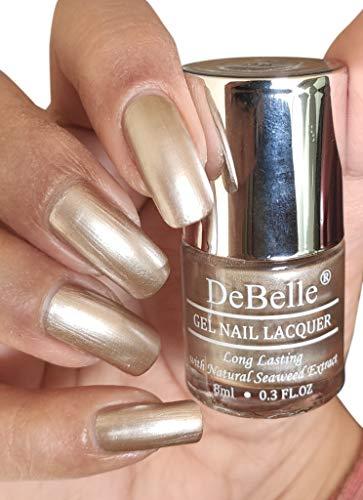 DeBelle GelChromeNail Polish-Metallic Beige(Chrome Beige), 8 ml