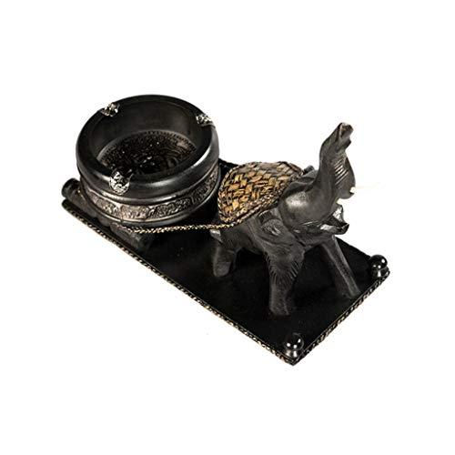 didi Cenicero creativo creativo, cenicero de arte y manualidades, diseño de elefante, cenicero de madera, cenicero de escritorio, decoración de salón, cenicero de regalo