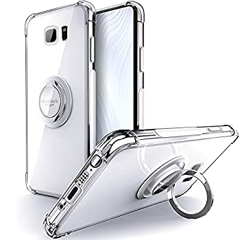 Silverback for Galaxy Note 5 Case Clear with Ring Kickstand Protective Soft TPU Shock -Absorbing Bumper Shockproof Phone Case for Samsung Galaxy Note 5 -Clear