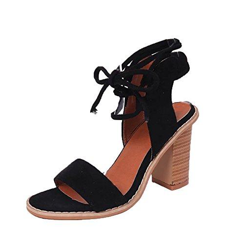 Damen Sommer Sandalen, Overmal Frühlings Mode Riemen Sandalen Damen Pumps High Heels Schuhe Elegant Böhmen Damen Schuhe mit Hohen Absätzen Plattform Keile Schuhe Riemchensandalen