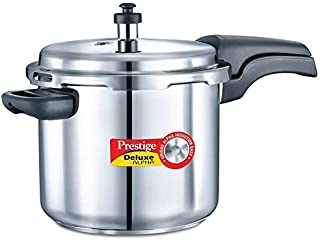 Prestige 5.5L Alpha Deluxe Induction Base Stainless Steel Pressure Cooker, 5.5-Liter