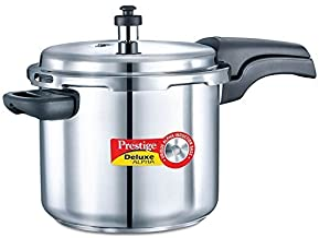 فاخرة من Prestige Alpha الضغط من الفولاذ المقاوم للصدأ فرن باللون الفضي, 5.5-Liter, Silver