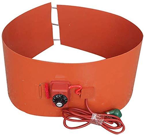 Metal Calentador De Tambor Rotación Calentador de Tambor de Metal Silicio Ajustable Termostato para bidones de 53 Galones/200 litros,200l1740*250/3000w