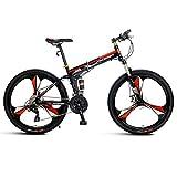 Bicicleta Montaña Adulto, Trail para Hombre 26'Rueda Bicicleta de Montaña 27 Velocidad Pequeño 17' Cuadro para Taller Riders, Negro