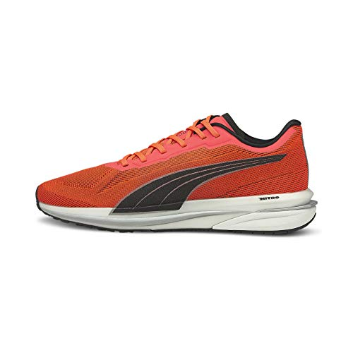 Puma 194596, Men's Road Running Shoes, Lava Blast Black Silver, 39 EU