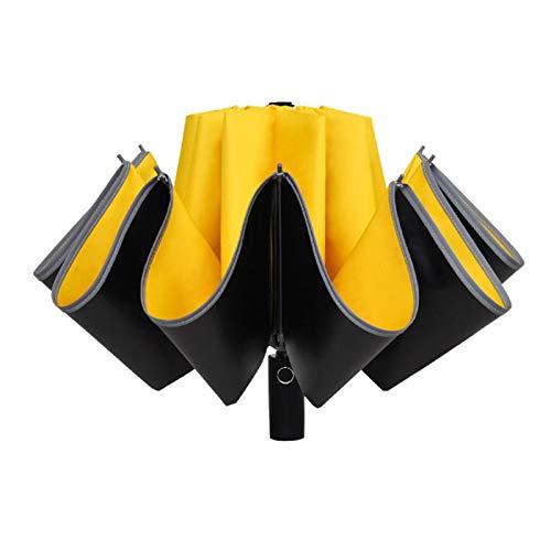 Hearthxy Ombrello pieghevole automatico parasole antivento impermeabile con rivestimento in vinile, 10 raggi forti, da viaggio