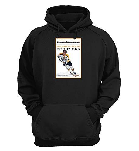 Bobby Orr Ice Hockey Stanley Cup Finals_KK023671 Hoody Hoodie Hooded Sweatshirt Sweater for Men Women Fashion - 2XL - Black