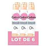 Cadum - Déodorant Atomiseur 48h Micro-Talc - Douceur de Lait - Sans Alcool - Tous Types de Peaux, même les plus délicates - 200 ml - Lot de 6 bouteilles