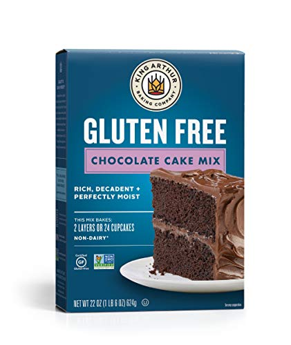 King Arthur, Gluten-Free Chocolate Cake Mix, Gluten-Free, Non-GMO Project Verified, Certified Kosher, Non-Dairy, 22 Ounces (Packaging May Vary)