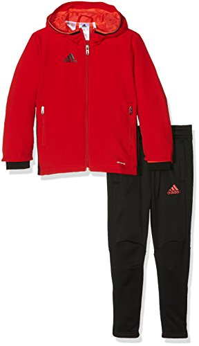 adidas Kinder Sportanzug Präsentationsanzug Condivo 16 Trainingsanzug, Scarlet/Black, 128