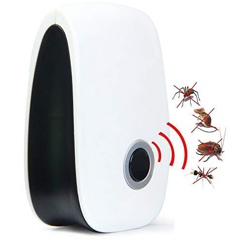 Repelente De Plagas Ultrasónico, Enchufe Electrónico En Rechazo De Repelente De Plagas De Control Plagas De Ratones, Arañas, Insectos, Chinches, Hormigas,...
