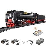 Myste Juego de construcción de tren, Mould King 12003, 2,4 G APP/RC, flotador de vapor con mando a distancia, luz y riel, 1552 bloques de montaje compatibles con Lego Technic