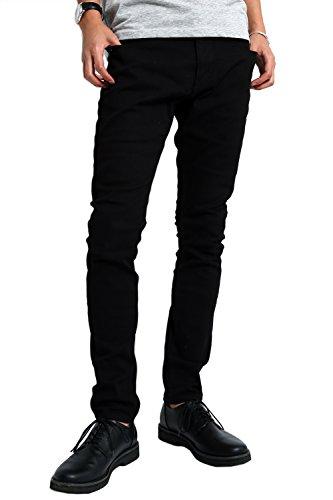 インプローブス チノパン ストレッチ スリム スキニー ストレッチパンツ スキニーパンツ カラーパンツ ズボン メンズ ブラック L サイズ