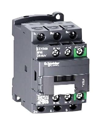 SCHNEIDER ELECTRIC, LC1D09BNE, Contactor, Non-reversing, 9 A, DIN Rail, Panel, 690 VAC, 3PST-NO, 3 Pole, 5.5 kW