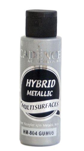 Pintura Acrílica Multisuperficie Hybrid Metálica Cadence Plata Ref. H804