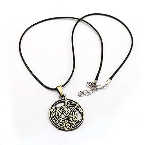 ZYLL Recién Llegado, Collar de alquimista de Metal Completo, Collar de círculo de homúnculo y Colgante de Metal Redondo de Anime para Hombres y Mujeres, joyería XS12726