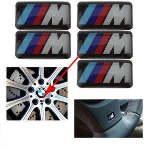 Steel Company M Power Performance Emblem Harz 3D Effekt Aufkleber aus Kunstharz. Für Autos und Motorräder.