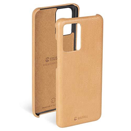 Krusell Funda Compatible con Samsung Galaxy S20+ Cuero - Sunne - Desnudo Vintage Carcasa Case Bumper Ultra Fina/Resistente