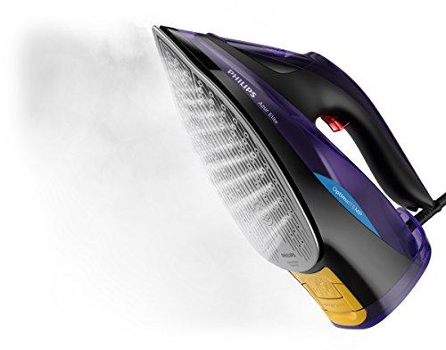 Philips Azur Elite Steam Iron with DynamiQ intelligent steam release, 260 g steam boost and smart Quick Calc Release, Black - GC5039/30