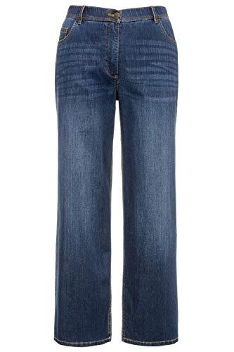 Ulla Popken Femme Grandes Tailles Jean Large Bleu Denim 50 724600 92-48