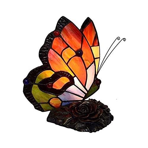 Lámpara de Mesa, Cristal Manchada Lámpara Lámpara de mesa, mini lámpara de vidrio iluminación mariposa noche lámpara de mesa luz mediterránea color creativo color diseño noche luz dormitorio noche lám