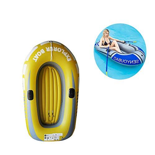 DYG Bote Inflable, 2 Personas 90 Kg Carga De Carga Plegable PVC Kayak Canoa Inflable De Servicio Pesado con 2 Soportes De Paleta, Deportes Acuáticos para La Pesca, Buceo Surf Piscina Jugar