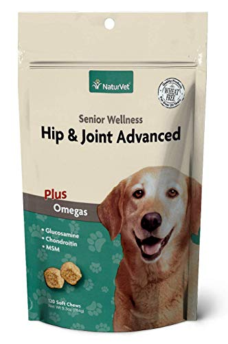 NaturVet – Senior Wellness Hip & Joint Advanced Plus Omegas – Help Support Your Pet's Healthy...