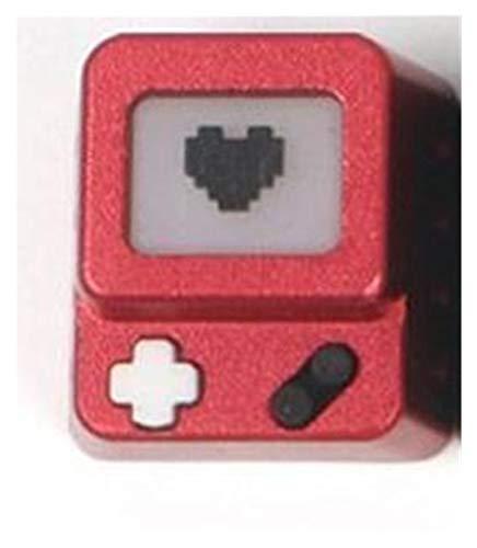1pc keycap en Aluminium en Aluminium pour commutateur MX claviers mécaniques Joueur personnalité de la résine de Surface anodisé (Color : Green)