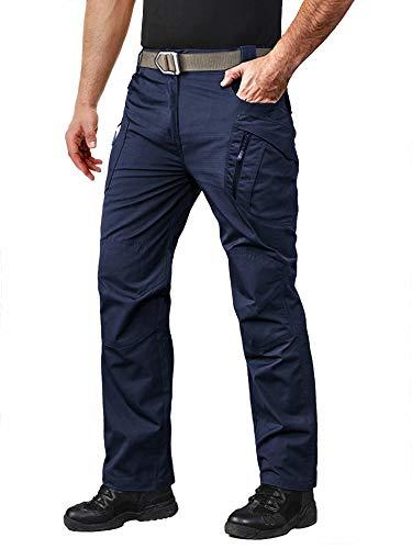 MAGCOMSEN Outdoor Pants Mens Lightweight Pants Military Pants for Men Summer Hiking Camping Pants Mens Airsoft Pants BDU Pants Quick Dry Work Pants Navy