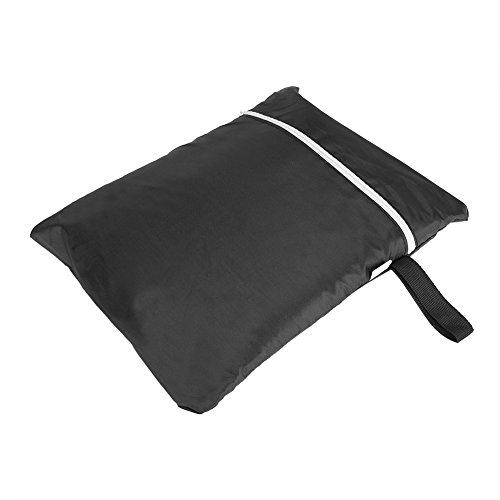 Zwarte grillhoes, 3 maten polyester grillbrander waterdicht stofdicht regenhoes UV-bescherming Garden Patio Grill Protector (170x61x117cm)