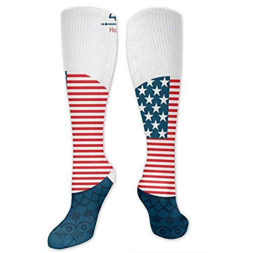 zhouyongz Happy Independence Day United States 4. Juli Herren Socken bunt, bunte Muster, modisch, bunt