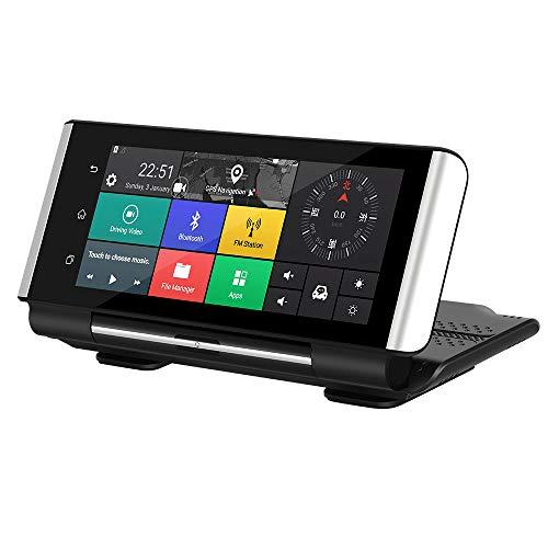 CáMara De Coche Dash Retrovisor Touch Screen 1080p HD CáMara Videograbador con Doble Lente G-Sensor, Modo De Estacionamiento, DeteccióN De Movimiento, GrabacióN De Bucle, SúPer VisióN Nocturna