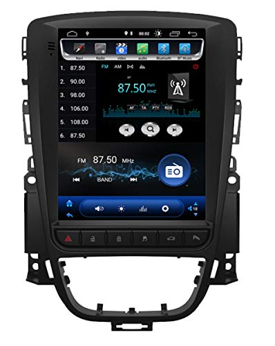 KasAndroid AUTORADIO Android 9.0,para Opel Astra J/Vauxhall Holden Estilo Tesla Pantalla Vertical 10', Quad Core, 2GB RAM, 16 GB ROM/GPS Coche Car/WiFi navi navegador/Año: 2010,2011,2012,2013