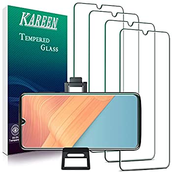 [4-Pack] KAREEN Designed For Motorola Moto Z4 Z4 Play Tempered Glass Screen Protector Easy to Install Bubble Free Touch Sensitive Anti Scratch