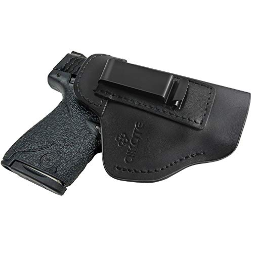 IWB Leather Holster for Concealed Carry, Inside Waistband Holsters for S&W M&P Shield, Glock 17 19 22 23 32 33 36 43, Springfield XD-S, Beretta 92FS, Sig Sauer P228 P239 and All Similar Handguns