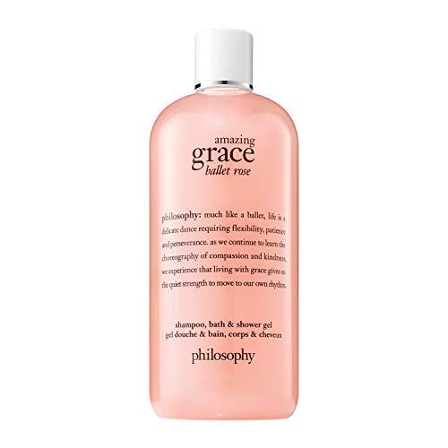 philosophy amazing grace ballet rose shampoo, bath & shower gel, 16 oz