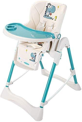 avec plateau amovible Chaise haute pour b/éb/és et tout-petits harnais /à 5 points et pieds r/églables en hauteur bleu azur Chaise de salle /à manger pour gar/çon facile /à installer