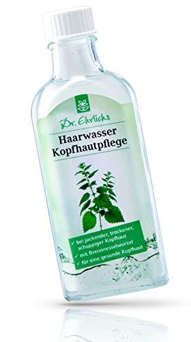 Dr. Ehrlichs Haarwasser Kopfhautpflege 100ml - Tonikum mit Brennessel für juckende trockene Kopfhaut - Natürliche Inhaltsstoffe - auch bei Schuppen mit Brennesselwurzel für empfindliche Haut