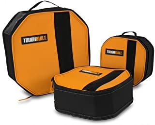 ToughBuilt - 3 Pack Toolmate Softboxes/Tool Bag   Soft Tool Box/Case/Carrier, Label Window, Hard Body Plastic Lined Wall, Heavy Duty Mesh Window, Multi-purpose Tool Storage Organizer (TB-192-C)