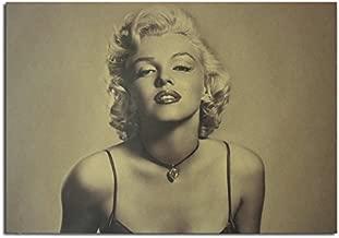 Generic Marilyn Monroe Poster Kraft Paper Wall Poster DIY Wall Art 21 inch X 14 inch