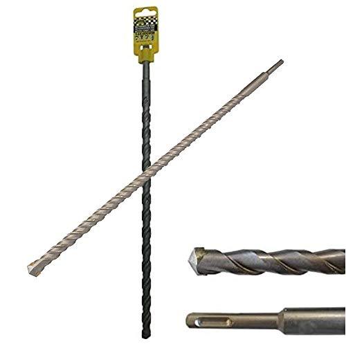 Broca SDS Plus, 400 mm, diámetro de 20 mm, para hormigón y piedra