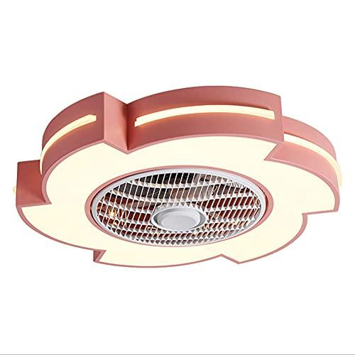 Jun Lámpara De Ventilador De Techo LED, Moderna, Simple, Color Cambiable, Control Remoto, Dormitorio De Comedor De Varias Velocidades