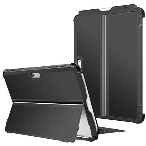 Fintie Funda para Microsoft Surface Go 2 de 10.5'/Surface Go de 10' - Carcasa Resistente Protectora con Soporte para Stylus Compatible con Teclado Type Cover (Teclado No Incluido), Negro