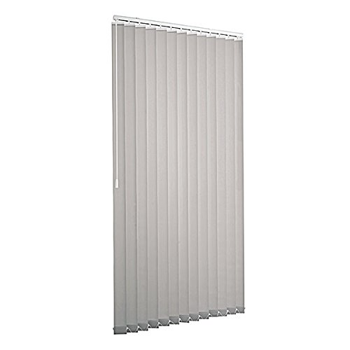 Ventanara Lamellenvorhang grau Vertikaljalousie 89mm inklusive Montagematerial 125 x 180 cm