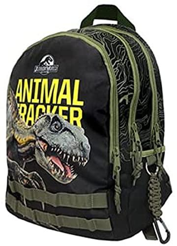 Zaino Scuola Jurassic World Rotondo 3 Tasche Animal 43x31x17 cm