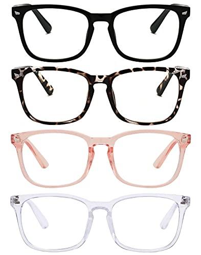 Reading Glasses Blue Light Blocking Readers for Women Men Nerd Glasses Comfort Lightweight Eyeglasses